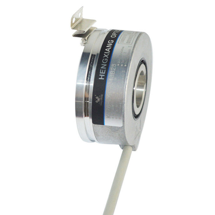 KC76 Keyway High Resolution Rotary Encoder Push Pull Output 32768ppr Through Hole With Slot