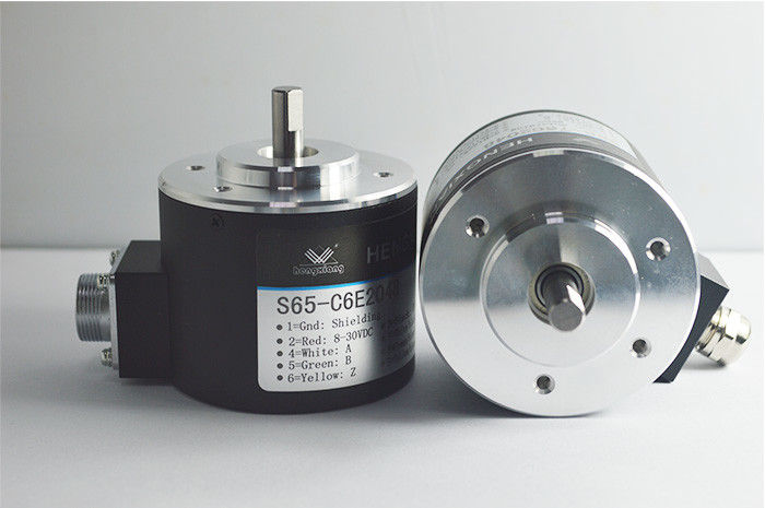 Conventional Incremental S65 Solid Shaft Encoder Shaft Diameter 8mm With Radial Cable